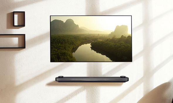 New in video tech - wallpaper TVs by LG