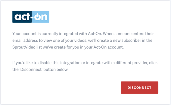 Introducing the Act-On integration with SproutVideo