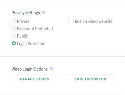 Login Protection Settings for Videos Hosted on SproutVideo