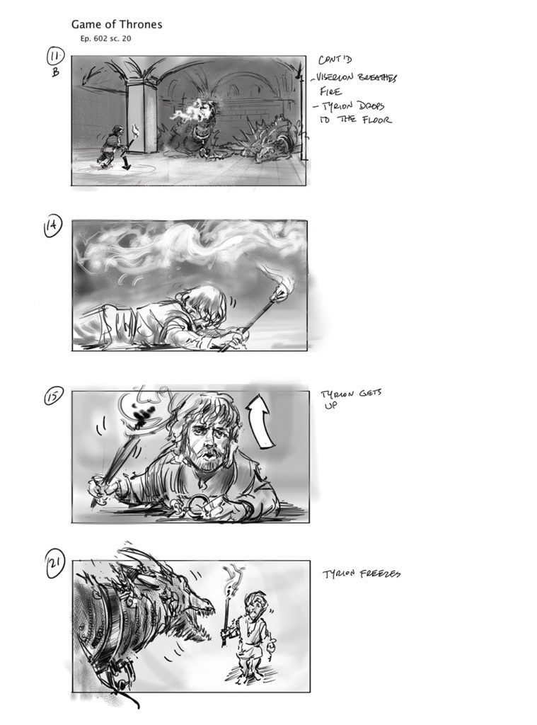 storyboard for Game of Thrones