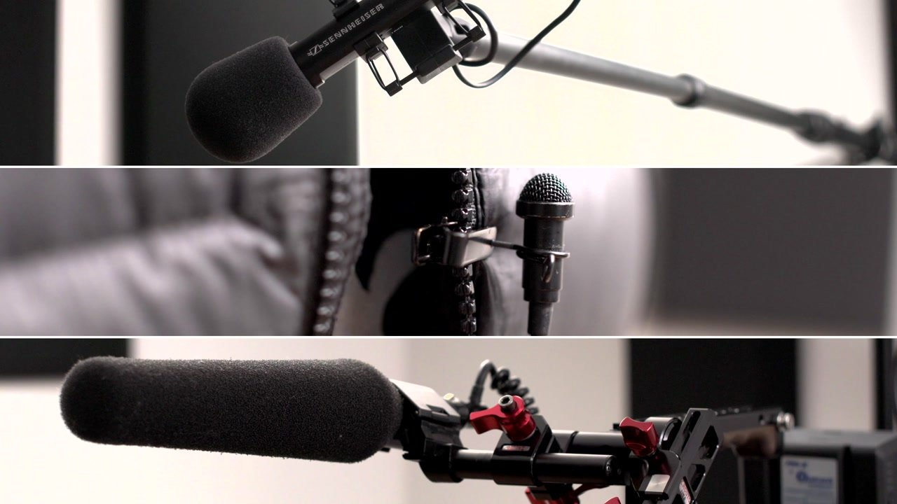 three microphone types and configuration