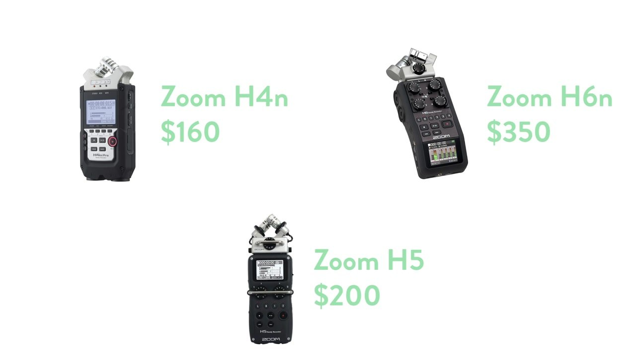 Zoom Mixer Recorder Types