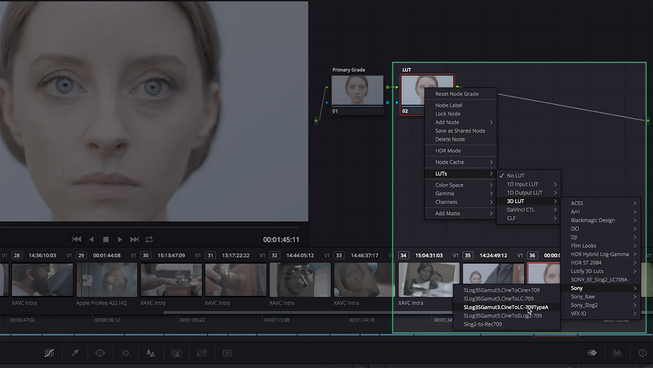 Apply LUT to Color Grade in DaVinci