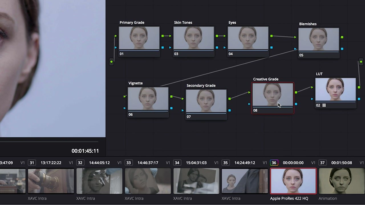 Nodes in DaVinci Resolve