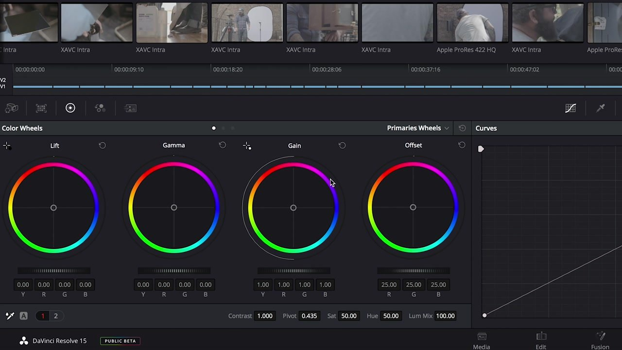 Color Grading Tools in DaVinci