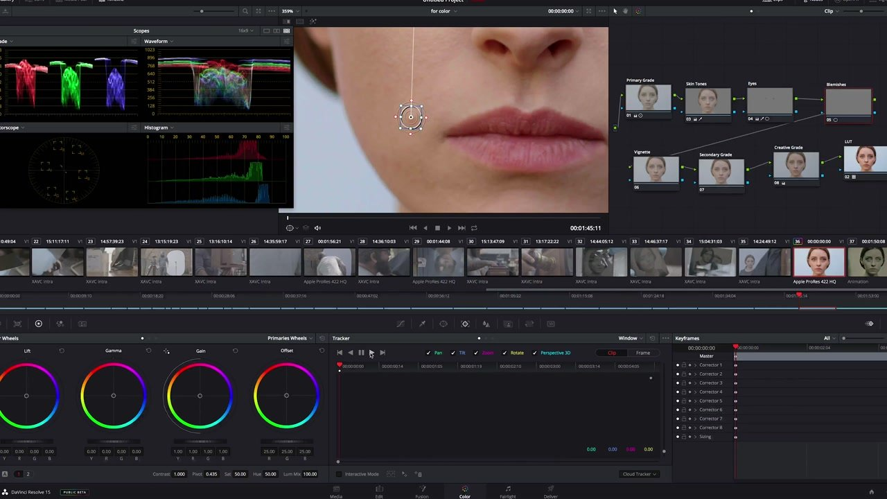 Blemish Correction DaVinci Color Grade