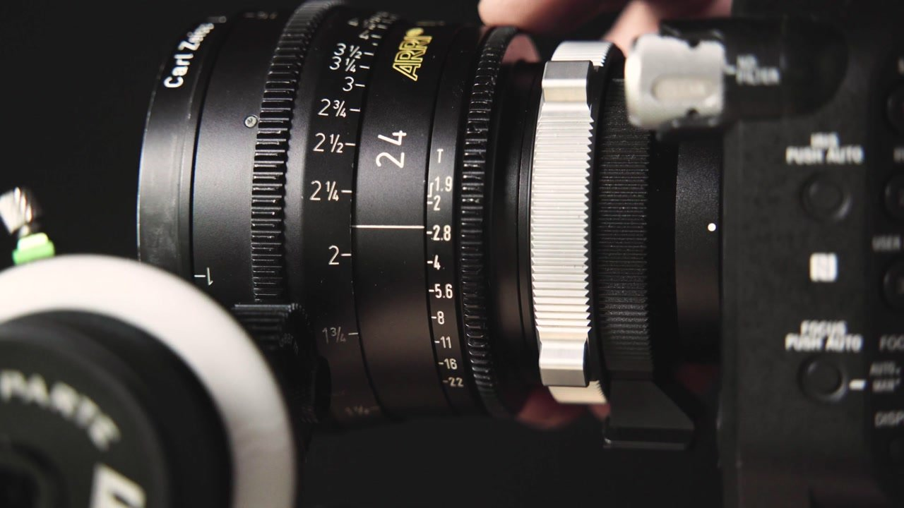 Aperture Ring on Cinema Lens