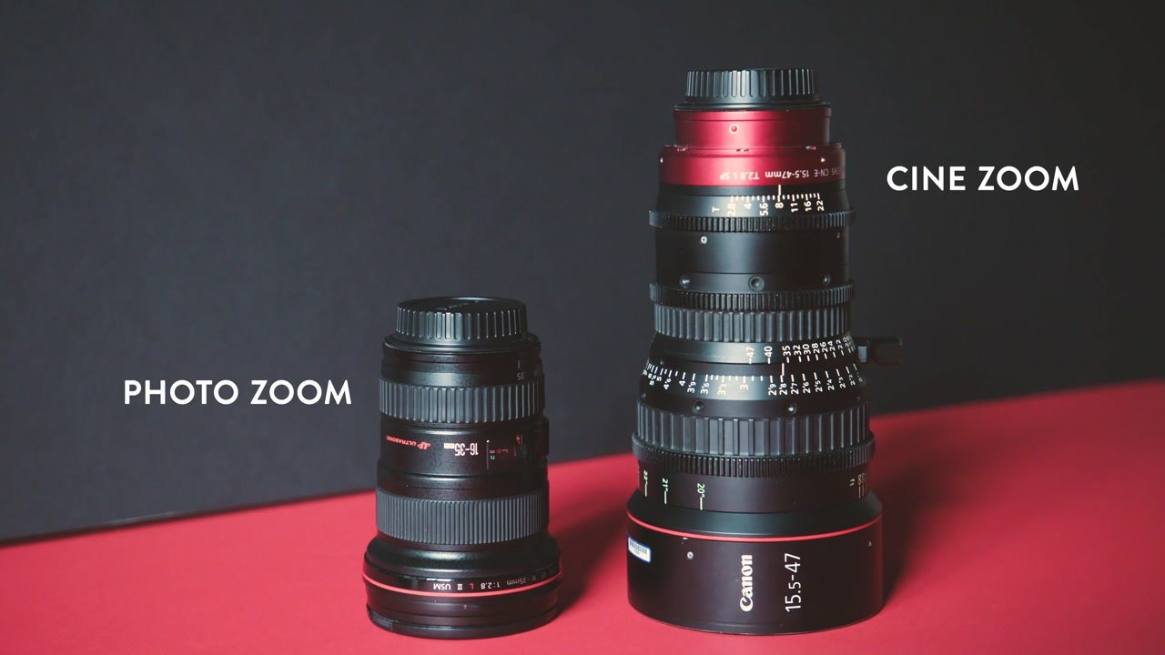 photo and cinema zoom lens comparison