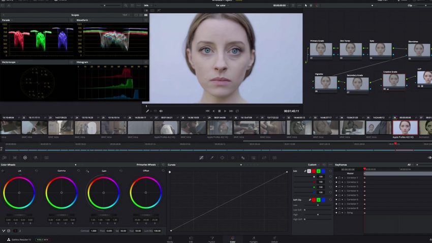 Color Grading in DaVinci