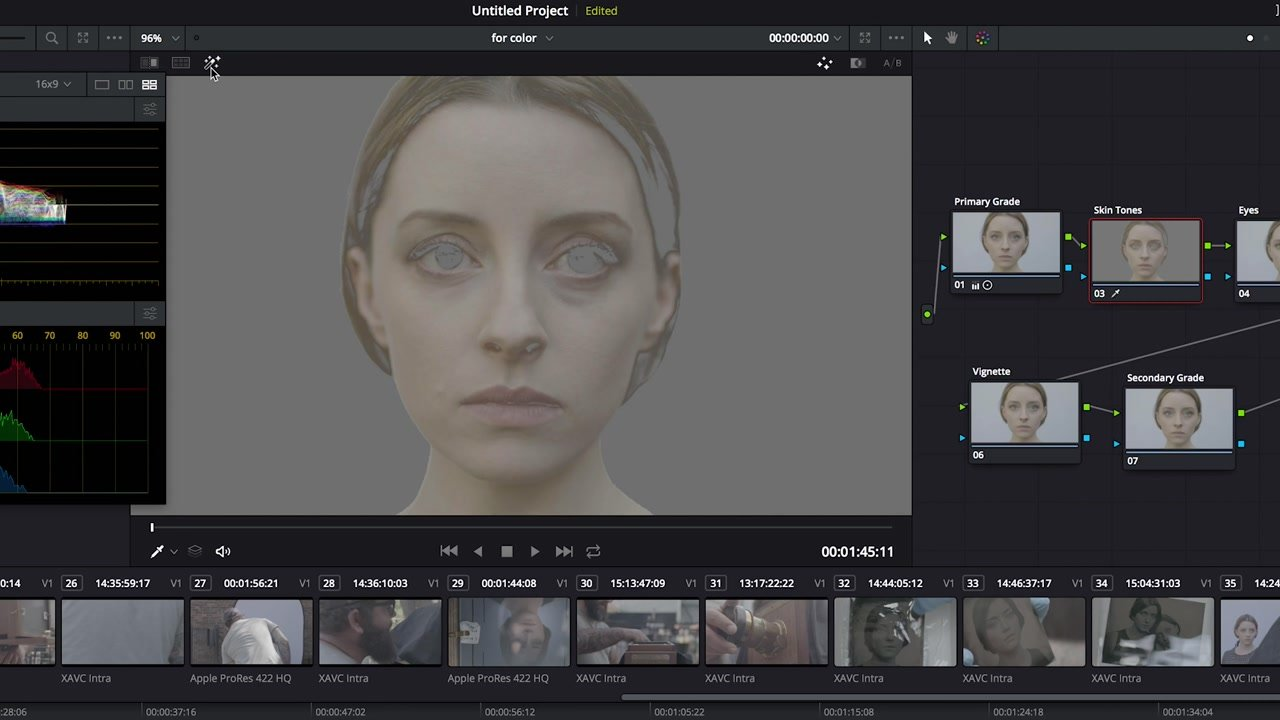 Skin Tone Edit DaVinci Resolve