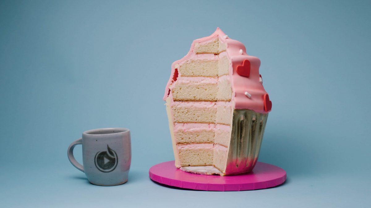 Cake and mug