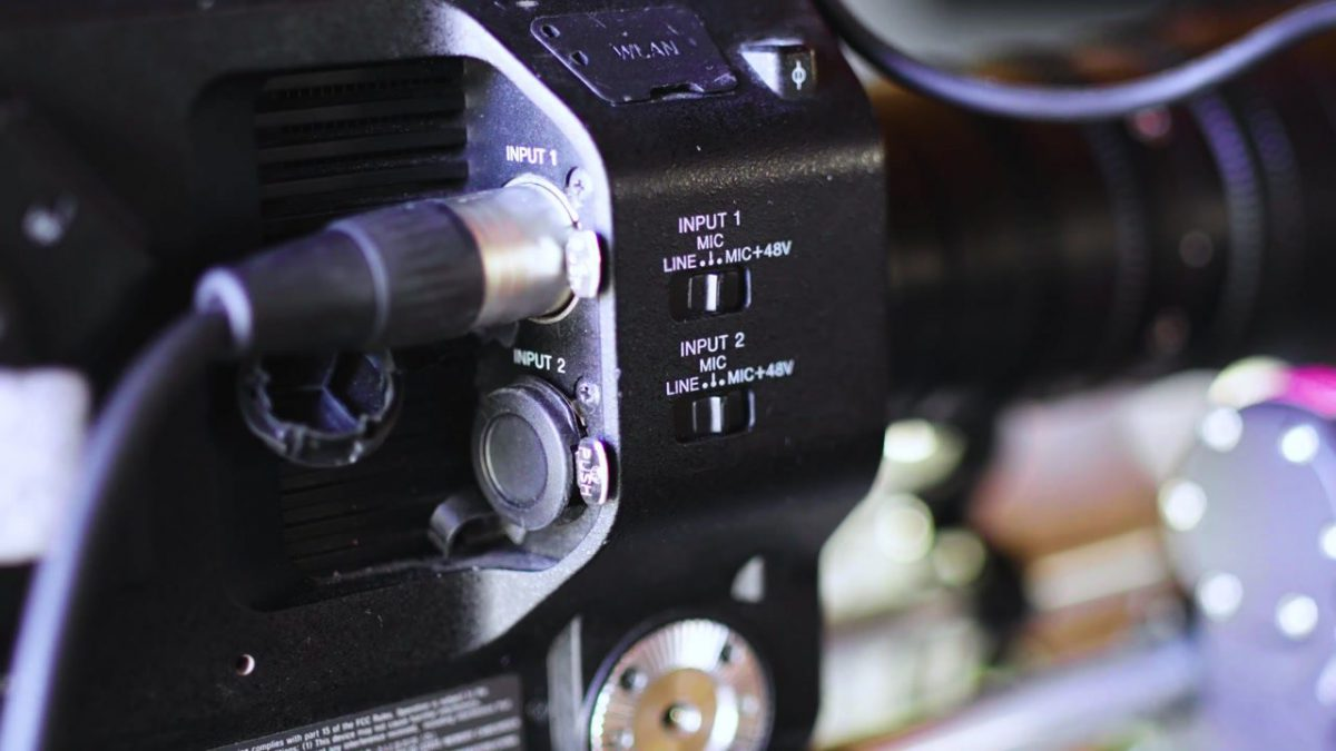 Audio Input on DSLR Camera