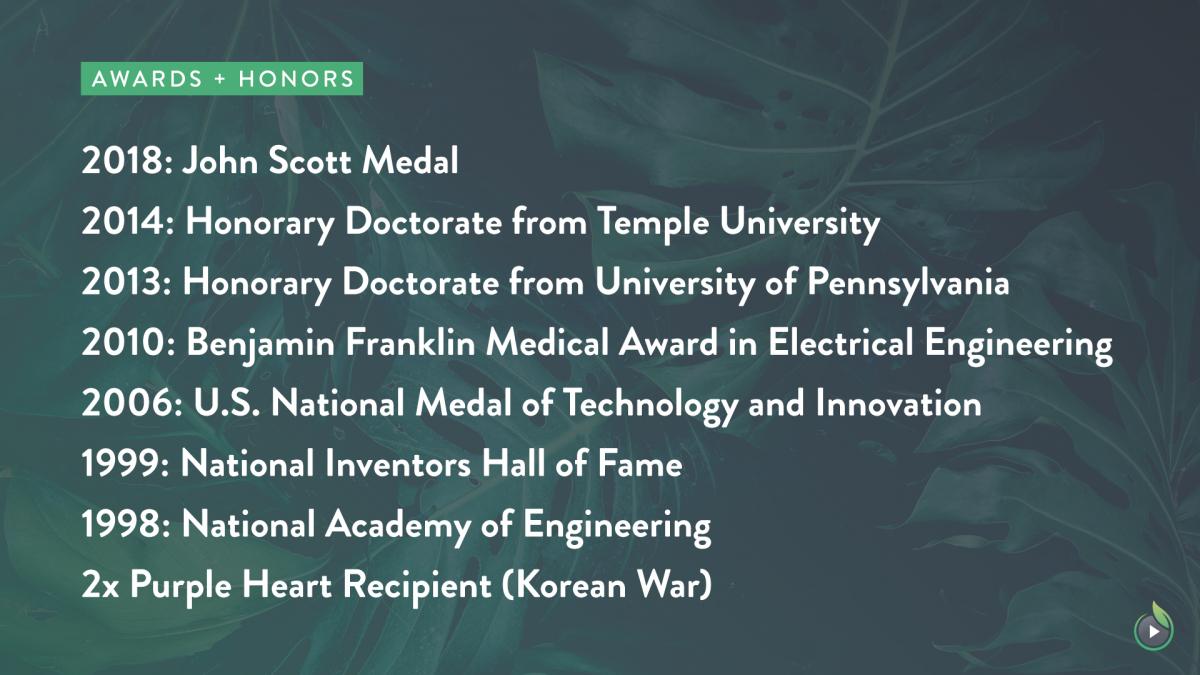 Dr. James Wests Accomplishments