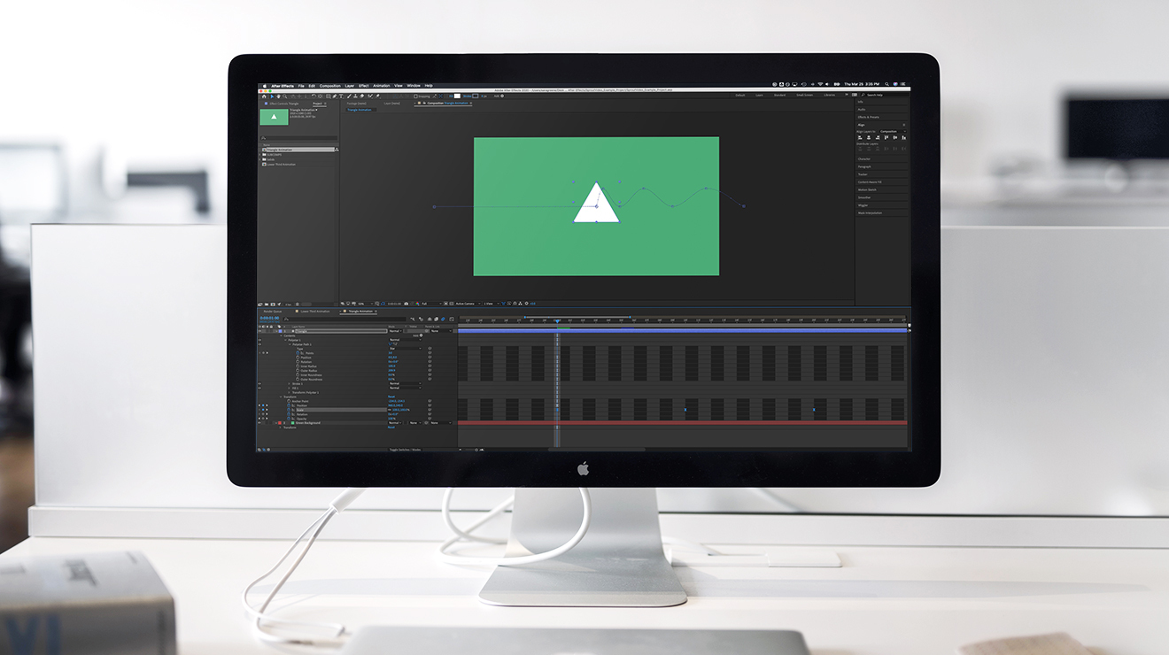 Adobe After Effects on Screen